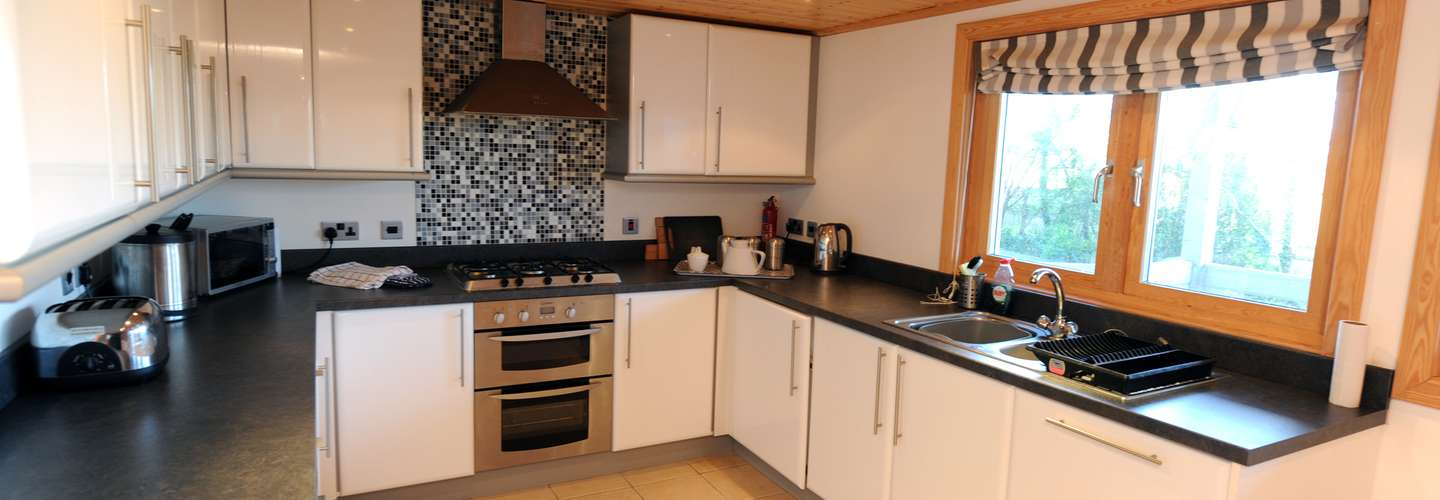 1 Longbury Lodge - Woodland Lodge, Near Tenby - Kitchen