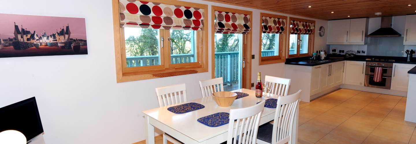 Lodge 5 Longbury - Luxury Woodland Lodge, Near Tenby - Dining