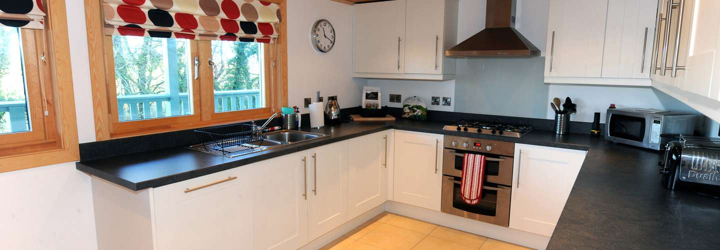 Lodge 5 Longbury - Luxury Woodland Lodge, Near Tenby - Kitchen