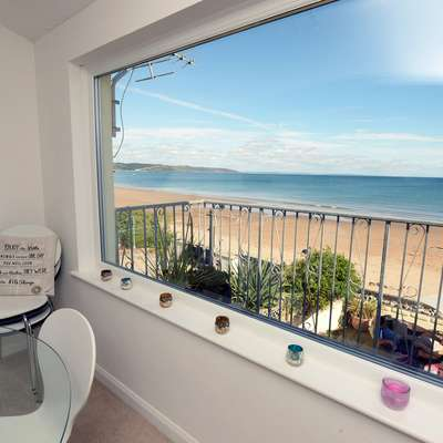 Gone to the Beach - Luxury Cottage, Sea Views, Direct Access to Beach, Pet Friendly - window view