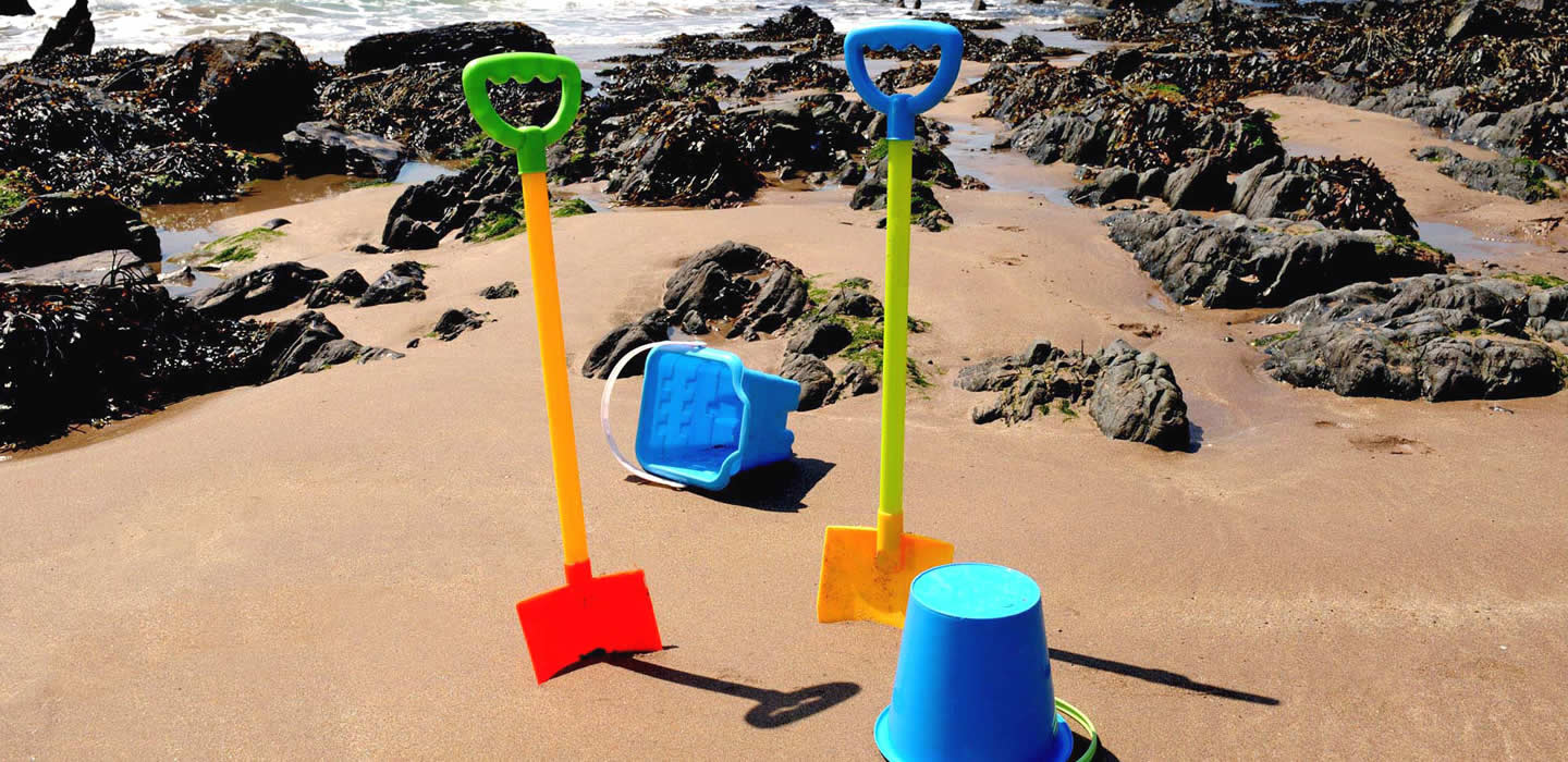 A bucket and spade at the beach