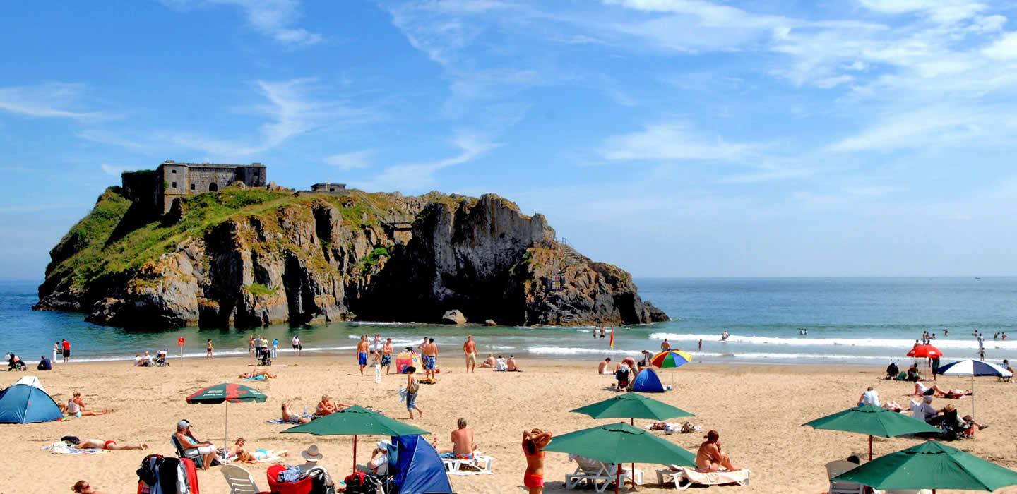St Catherine's rock and Castle Beach, Tenby